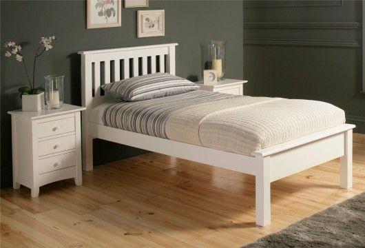 Shaker Solo White Wooden Bed Frame LFE - Single Bed Frame £159.00