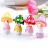 FD2374 nueva Mushroom Muñeca casa de Muñecas En Miniatura Ornamento Maceta Acuario Artesanía 1 unid