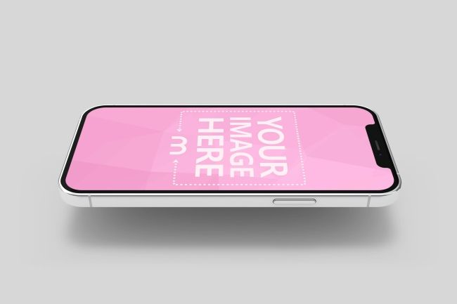 Use This 3d Iphone 12 Mockup Template For Showcasing Your Ios App Or Mobile Website Screenshot Easily Drag And Drop You Iphone Mockup Psd Iphone Mockup Mockup
