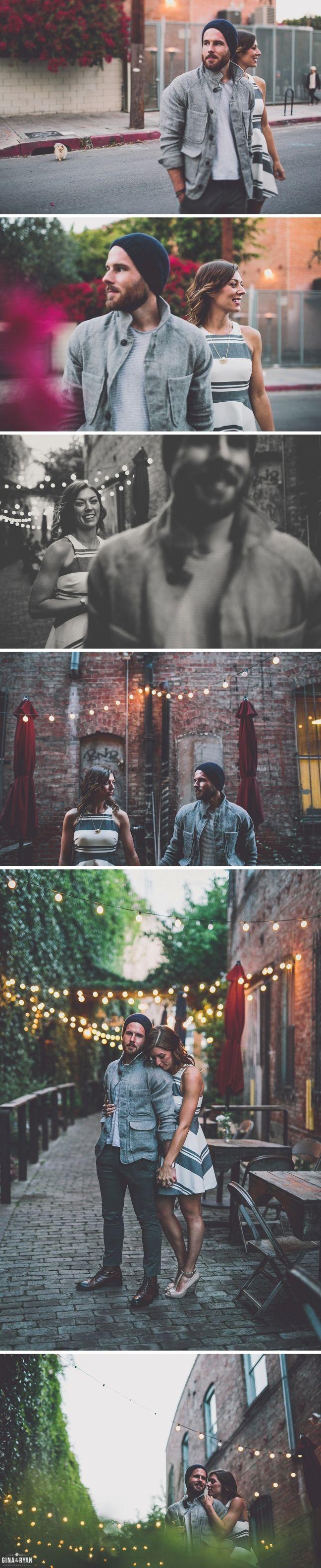 Los Angeles Engagement Photos LA Arts District