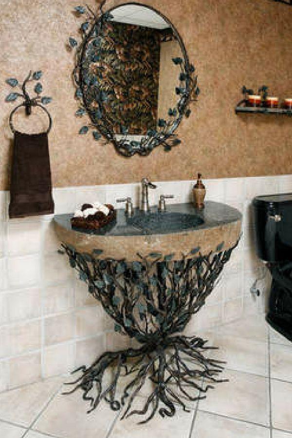 My dream bathroom sink #bathroomsink #homedecor #metalsink ...