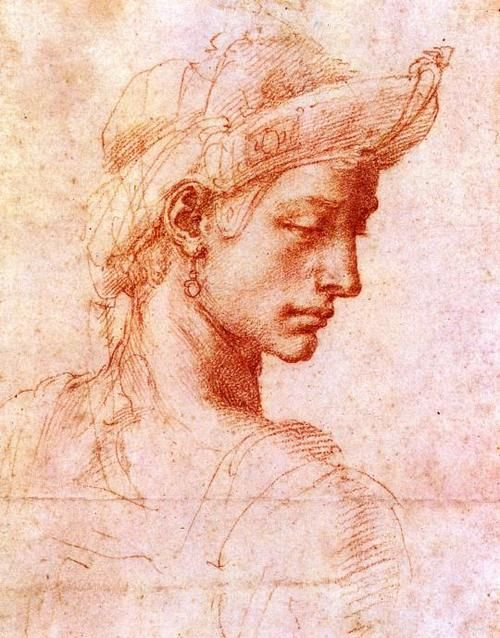 Michelangelo Buonarotti, Ideal Head.