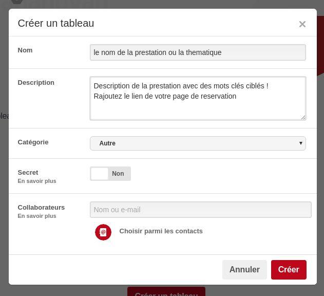 Exemple de prestation VTC et chauffeur privé sur Pinterest