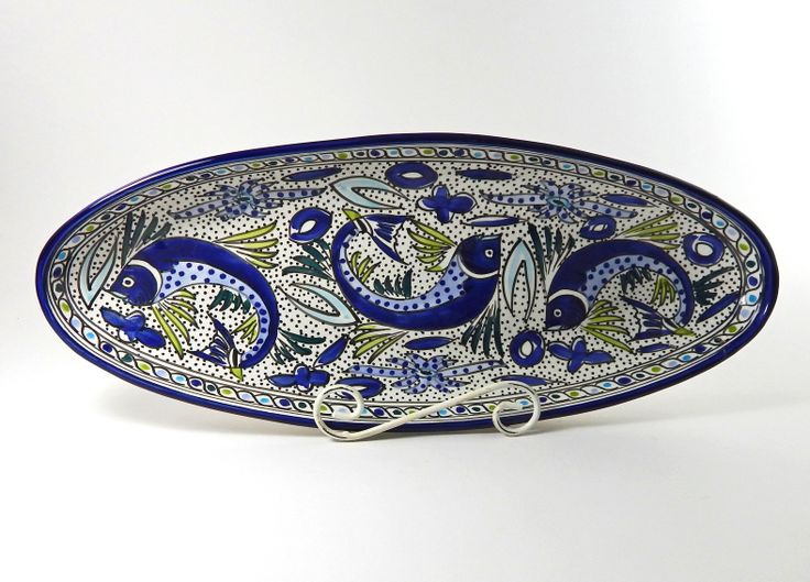 Pottery by Le Souk Ceramique is painted freehand by skilled artisans in Nabeul Tunisia. Get great deals on the studio\u0027s colorful ceramic dinnerware ...  sc 1 st  Pinterest & 34 best Tunisian Hand-painted Ceramic Dinnerware images on Pinterest ...