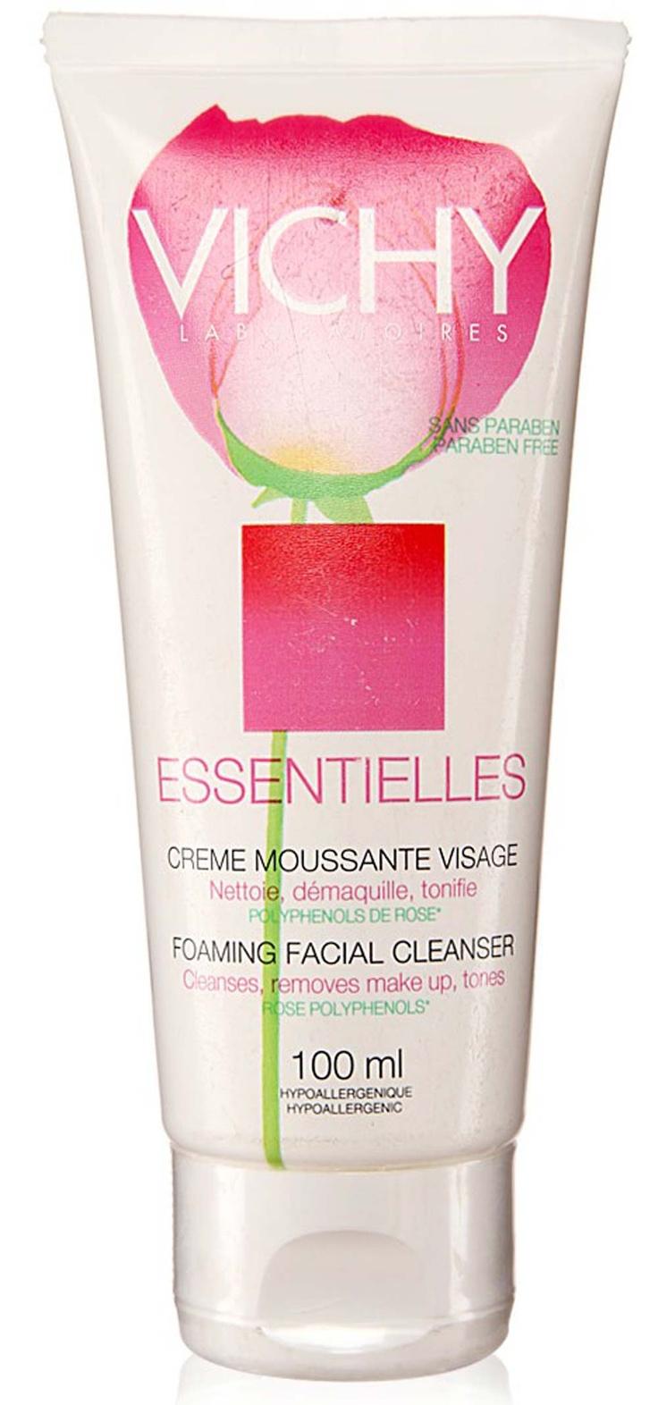 Vichy Men Women Skin Care Esentieles Foaming Facial Cleanser 100ml