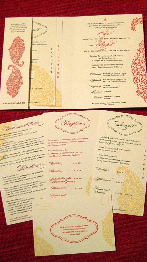 Couture Indian Wedding Invitations by Alia Designs