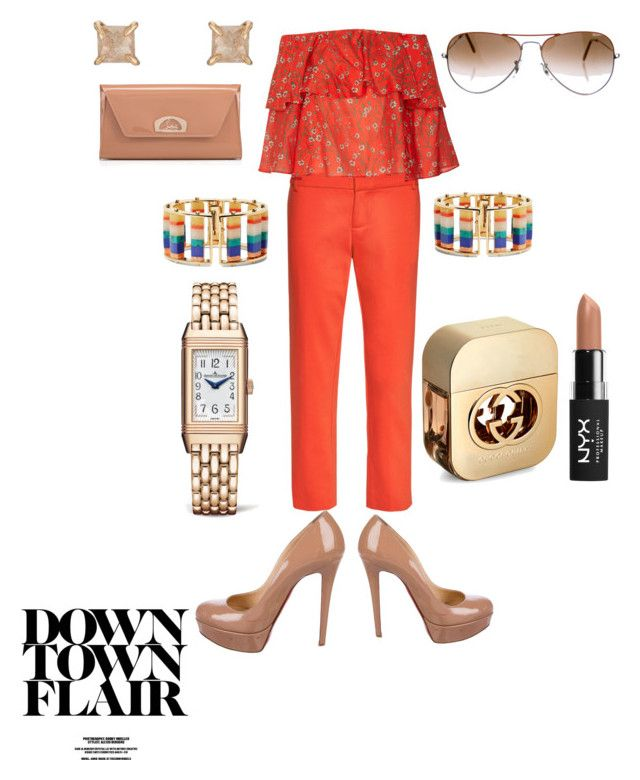 """""""Be FUN and YOU!!"""" by joyphoenix on Polyvore featuring Alice + Olivia, Christian Louboutin, Lele Sadoughi, Eva Fehren, Ray-Ban, Jaeger-LeCoultre, NYX and Gucci"""