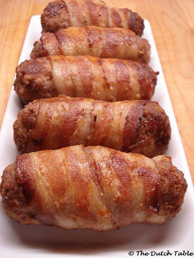 The Dutch Table: Slavinken (Dutch Bacon Meatrolls)