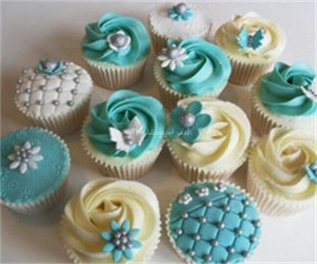 Teal cupcakes. Have Teal Fashion and Products! Teal is the Color of Ovarian Cancer Awareness!