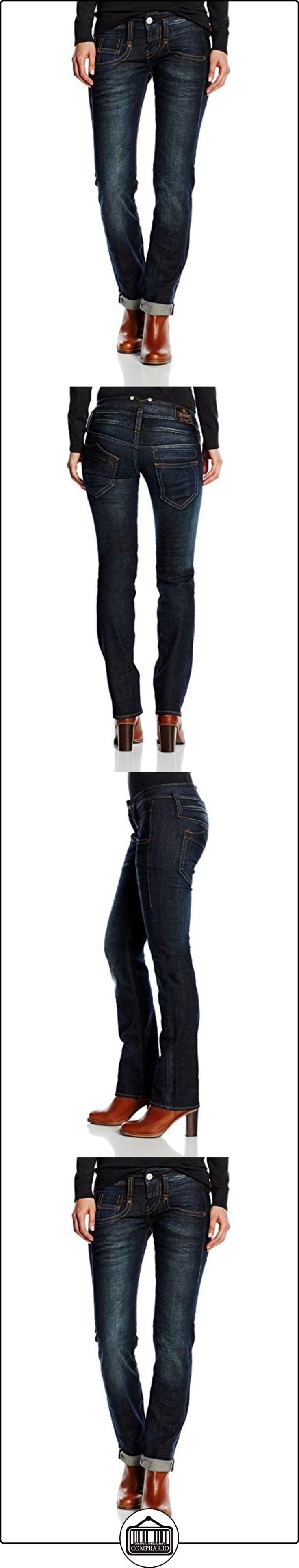 Herrlicher Pitch Denim Stretch - Pantalones straigth para mujer, color blau (night blues 6130), talla W27/L34 (27/34)  ✿ Vaqueros ✿