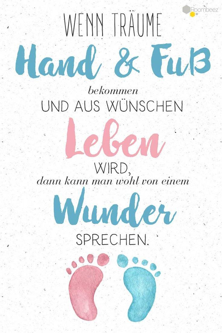 #Baby #Geburt #Glückwünsche #Sprüche   Auf ROOMBEEZ haben wir Euch schöne Glückwunschkarten zur Geburt zusammen gestellt » Schaut doch mal vorbei!