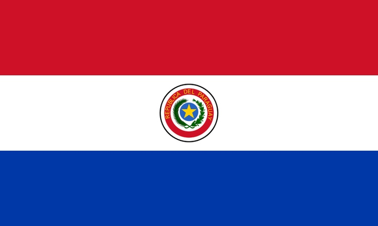 The current flag of Paraguay was officially adopted on November 25, 1842.     The flag is modeled after the colors and shape of the French Tricolore, and collectively it represents liberation. The Sun of May in the centered crest is considered a symbol of freedom, and it's found on numerous South American flags.