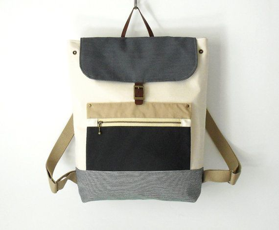 A smart canvas backpack that doubles as a laptop bag.