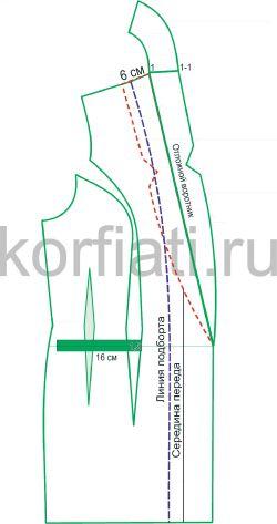 Платье-смокинг – моделирование воротника