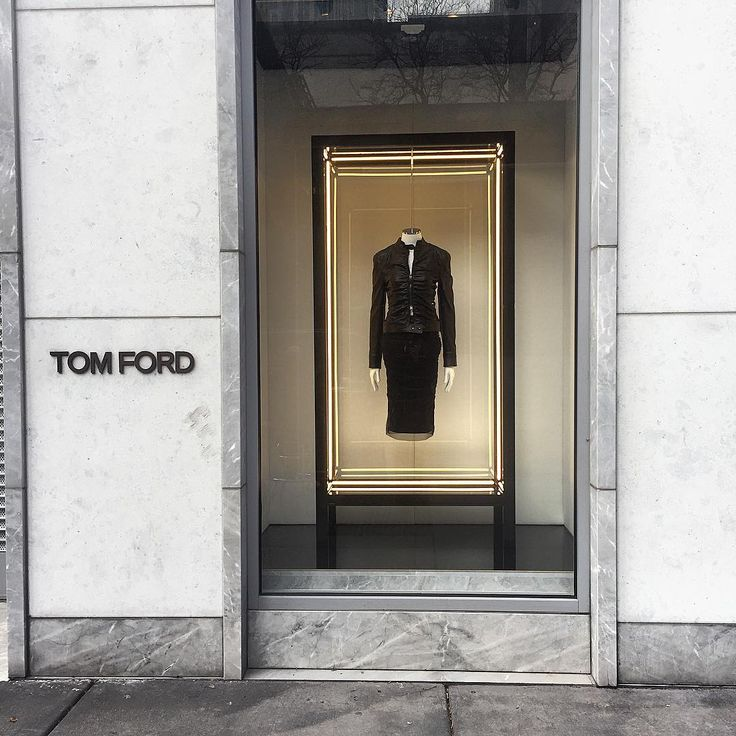 """TOM FORD, Oak Street, Chicago, Illinois, """"Black... What do you mean other colors???"""", photo by Kristin, pinned by Ton van der Veer"""