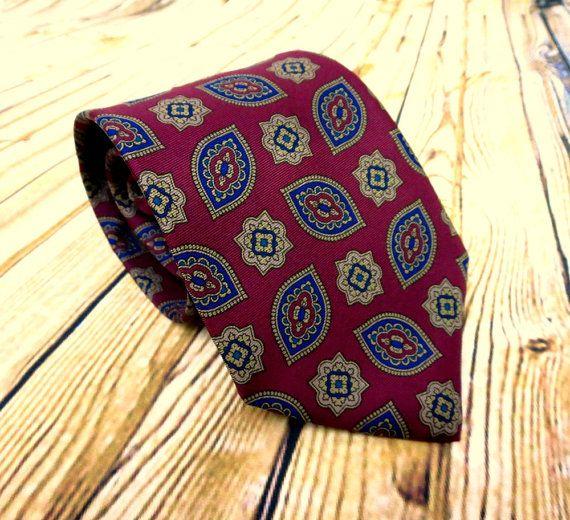Vintage Necktie - Mens Gift Ideas - Aquascutum - Neckwear - Husband Gift - Fathers Day Gift - Groomsmen Gift - Designer Necktie