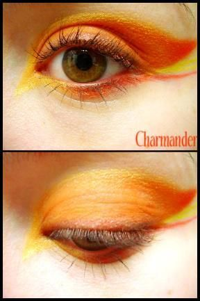 charmander inspired makeup