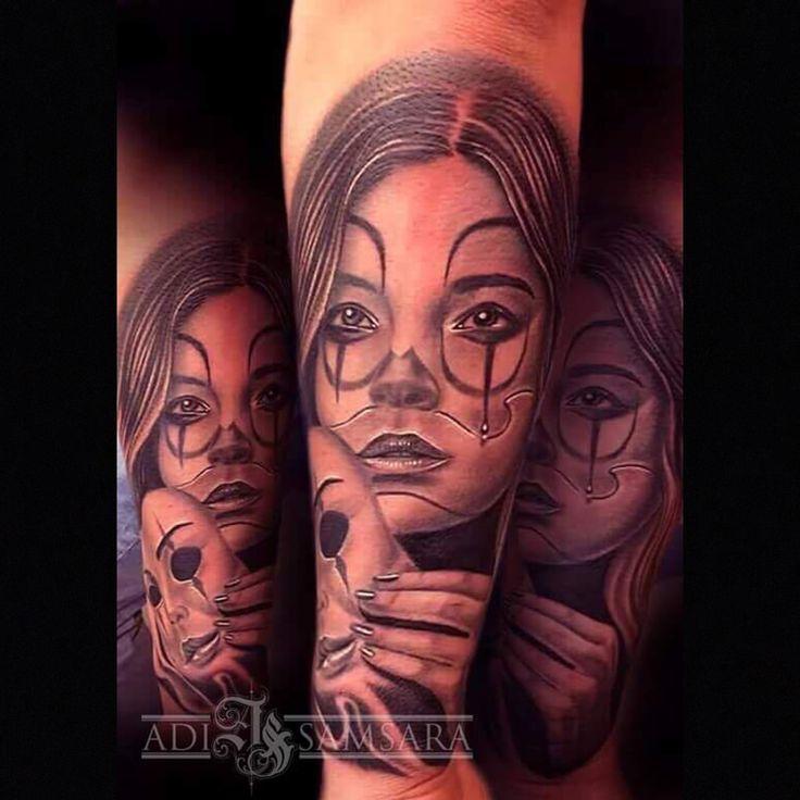 Clown girl  Instagram @Adisamsara_tattoo