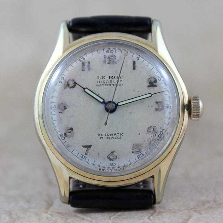 Vintage LeRoy 17 Jewel Swiss Made Wrist Watch