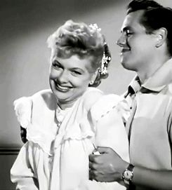 """ Lucille Ball and Desi Arnaz's costume test for ""I Love Lucy."" (x) """