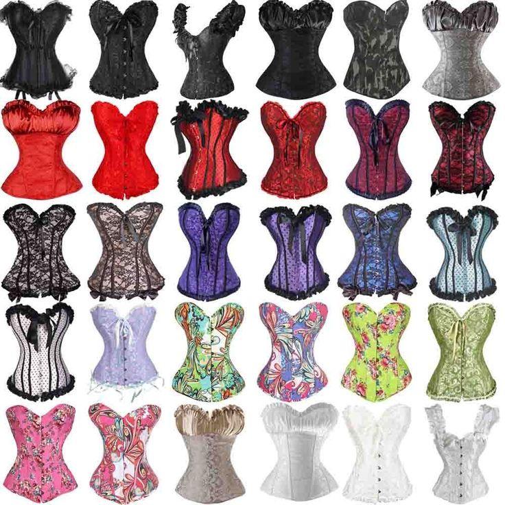 Sexy Women Lace Up Steampunk Corset Bustier Top  Waist Cincher Body Shapewear  #Neverland #LaceUp