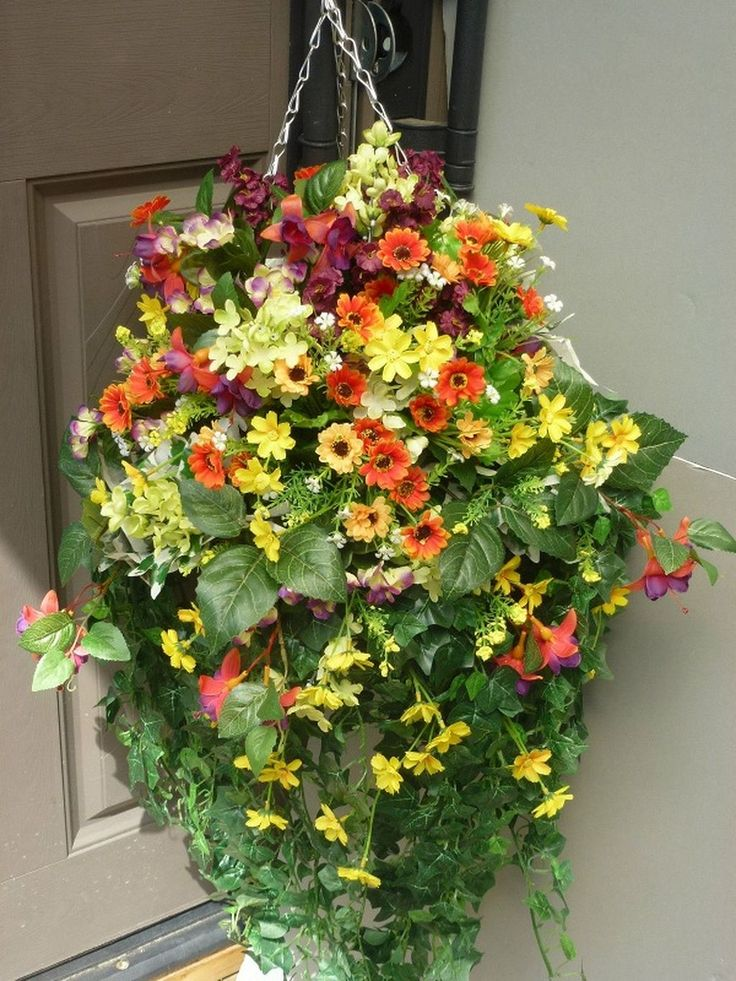 15 best artificial flower hanging baskets images on. Black Bedroom Furniture Sets. Home Design Ideas