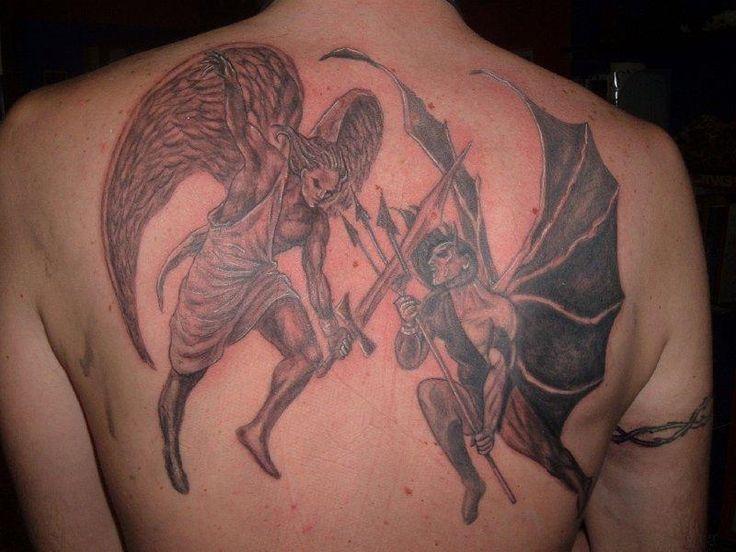25+ Best Ideas About Angel Devil Tattoo On Pinterest