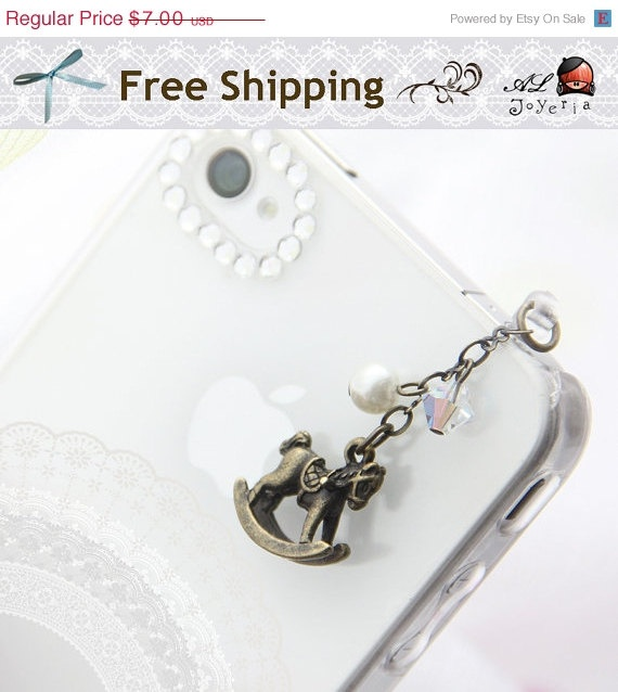 iPhone Earphone Plug iPhone Dust Plug Little Rocking by ALJoyeria, $5.25