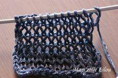 Points ajourés au tricot