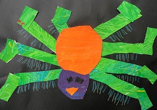 Spider Collage inspired by Eric Carle