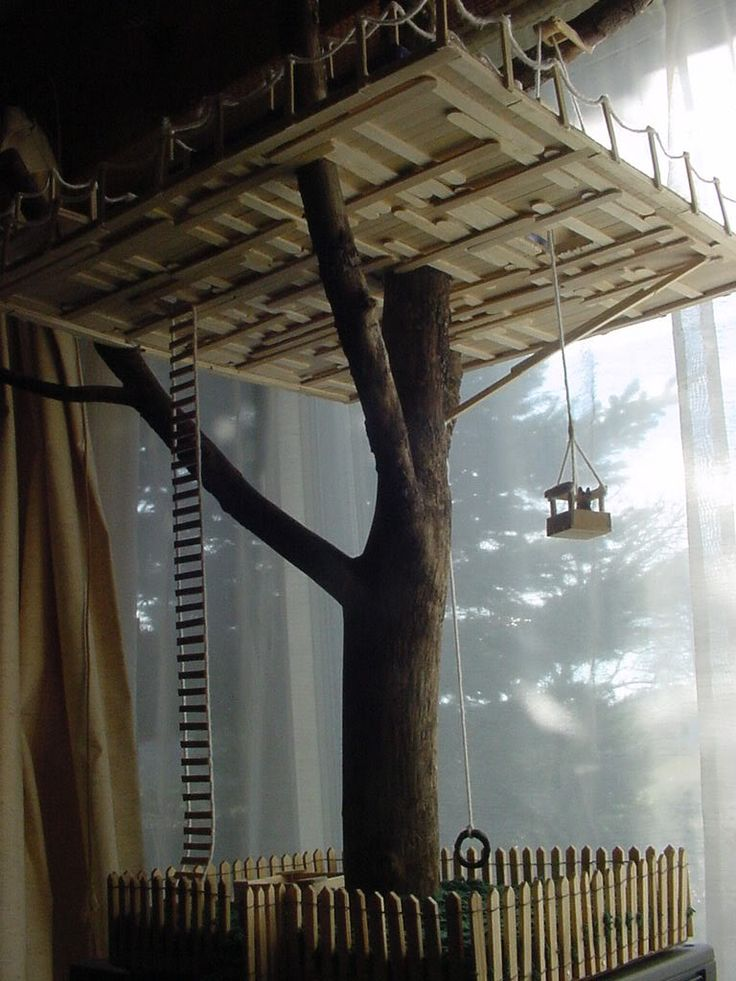 Popsicle stick tree house asa my next projects for How to build a treehouse with sticks