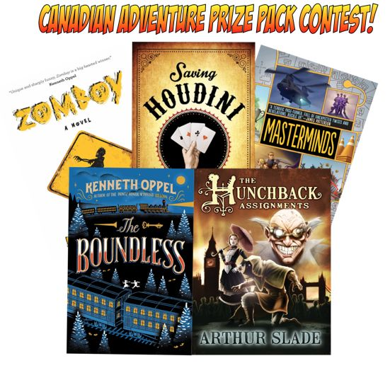 Well, here it is! The Canadian Adventure Prize Pack. Trains! Zombies! Zeppelins! Magicians & Masterminds! just visit bit.ly/CDNPrizepk for all the details ... #contest closes Oct. 31st, 2015