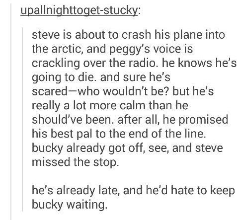 Stuuuuuckkkkkyyyy I will go down with this ship, and Steve already did she so I guess I'm not the only one