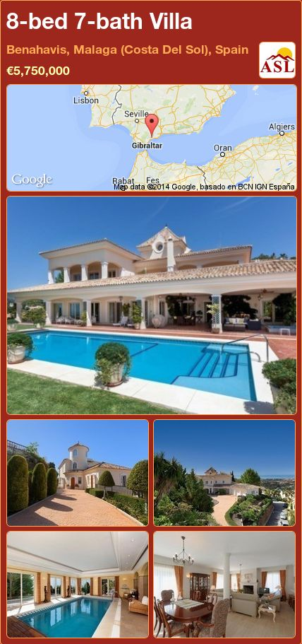 8-bed 7-bath Villa in Benahavis, Malaga (Costa Del Sol), Spain ►€5,750,000 #PropertyForSaleInSpain