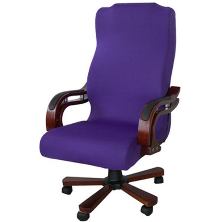 3サイズ弾性コンピュータ椅子カバースパンデックスオフィスチェアカバーダイニングチェア洗える脱着式回転椅子カバー