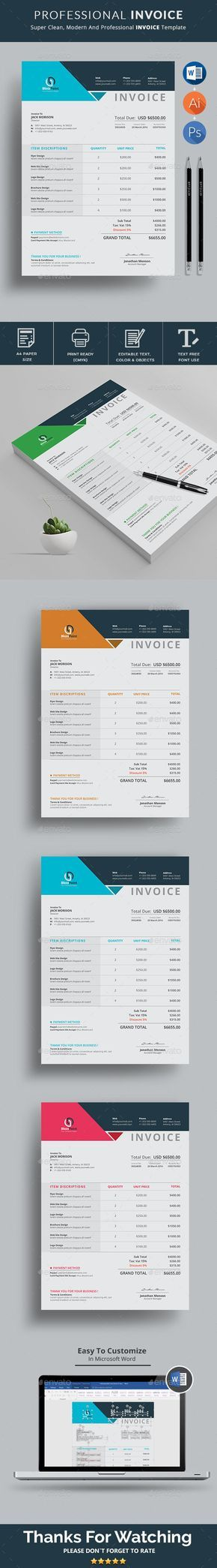 Invoice Template Use this Clean Invoice for