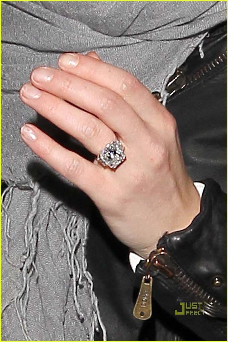 hilary duff 14 carat radiant cut engagement ring - Hilary Duff Wedding Ring