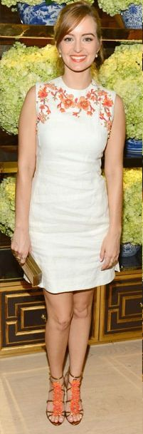 Ahna O'Reilly at the Tory Burch Rodeo Drive Flagship Store Opening