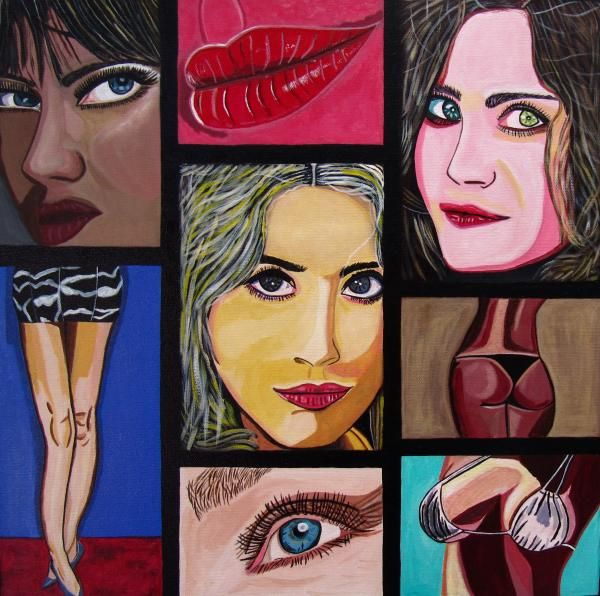 Celebrity was inspired by my fascination with fame and living in LA for a number of years. Copyright by Sandra Marie Adams--- Original Painting Available For Purchase --- Click Image to see larger view. --- Many size combinations.. Framed, Metallic, Acrylic, and GalleryWrapped Canvas choices or unframed Prints...