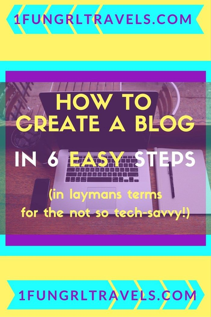 How to create a blog in 6 easy steps! (in laymans terms for the not so tech savvy) #blogging #business