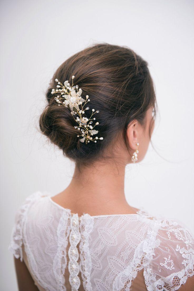 Tocado de novia peine nupcial del pelo pedazo por liricabylironc