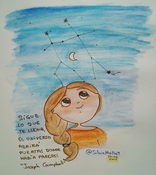 Encuentra tu camino en el universo!! #undibujoparacadadía #87 #universo #noche #camino #illustration #design #art #sketchbook #doodle #watercolor #drawing #inktober #artist #ink