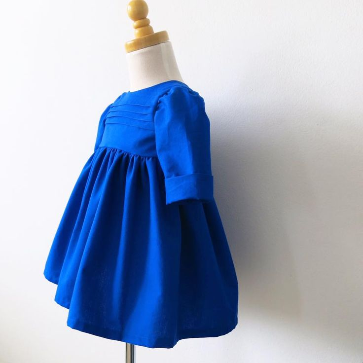 Electric Blue Brea dress from three x four - handmade in Sydney, Australia.  www.threexfour.com