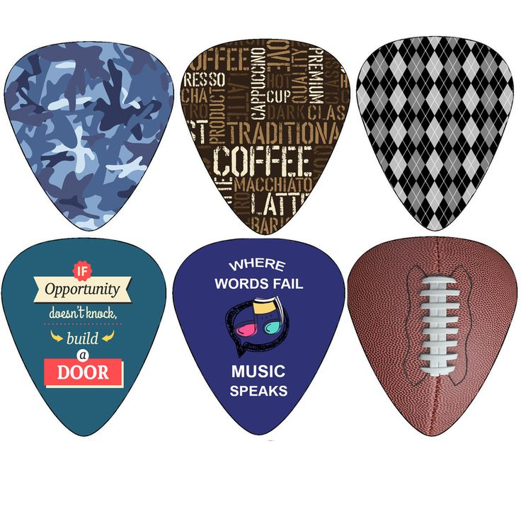 Hero Guitar Picks (12-Pack) - Medium Celluloid - Unique Music Gifts - Assorted Cool Picks Guitar Picks