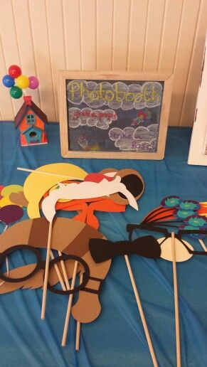 Disney Pixar Up theme photobooth props