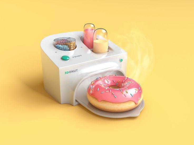 ArtStation - Printer of delicious 3D donuts, Mikael Perilä
