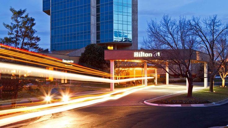 Hilton Alexandria Mark Center hotel, VA - Exterior at Dusk