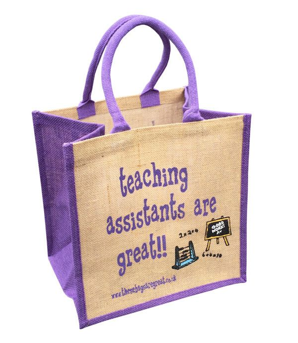 <p>Jute Shopping Bag - Teaching Assistants are Great</p>