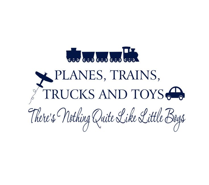 """Boy Wall Decals - Planes Trains Trucks and Toys Nothing Quite Like Little Boys Vinyl Wall Decal Quote for Boy Baby Nursery 20""""H x 36""""W FS162. $45.00, via Etsy."""