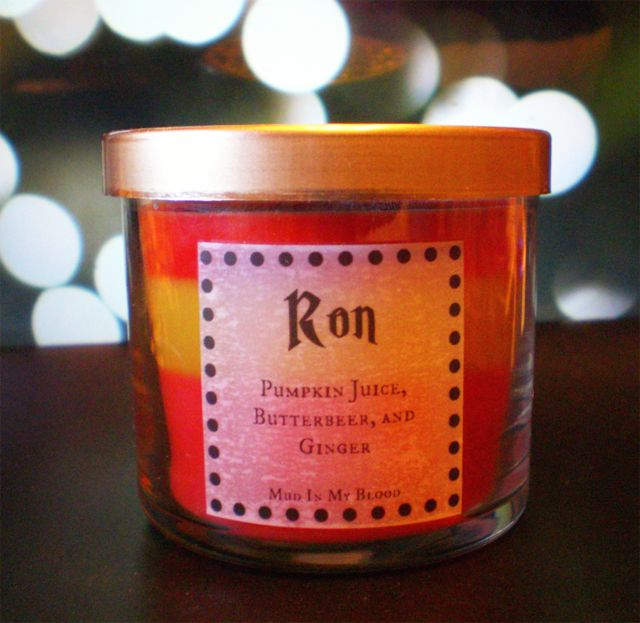 Harry Potter Scented Candles: Ron-Pumpkin Juice, Butterbeer, and Ginger